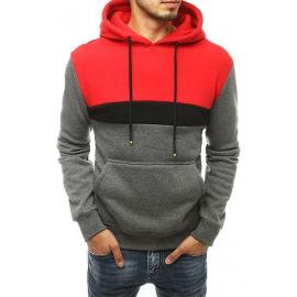 Dark gray men's hooded sweatshirt BX4550