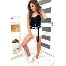 BEVER women's denim shorts white SY0135